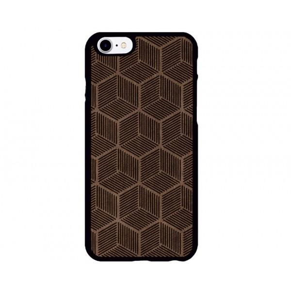 Geometrik Küp Desenli iPhone Süet Telefon Kılıfı
