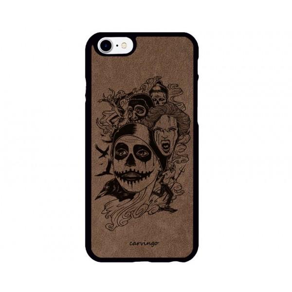 Hallowen Desenli iPhone Süet Telefon Kılıfı