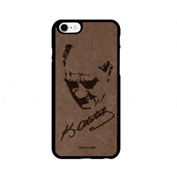 Atatürk Portre 2 iPhone Süet Telefon Kılıfı