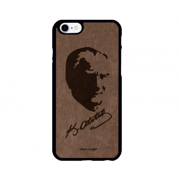Atatürk Portre 4 iPhone Süet Telefon Kılıfı