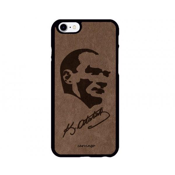 Atatürk Portre 5 iPhone Süet Telefon Kılıfı