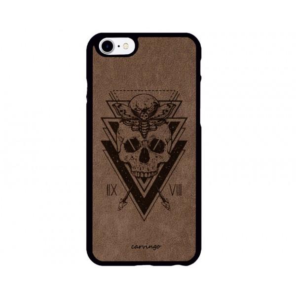 Triangle Figürlü iPhone Süet Telefon Kılıfı