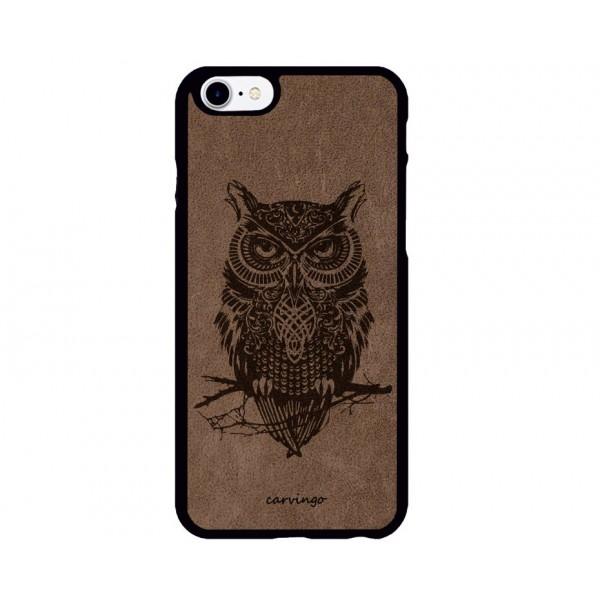 Baykuş Figürlü iPhone Süet Telefon Kılıfı