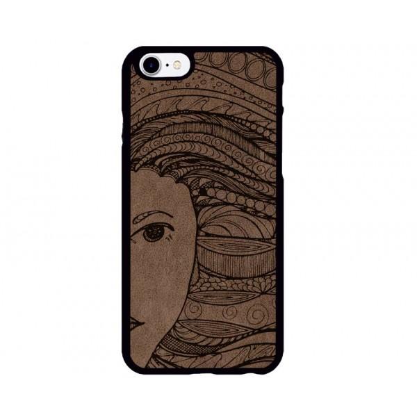 Deniz Kızı Figürlü iPhone Süet Telefon Kılıfı