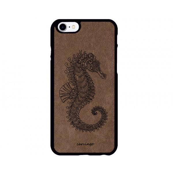Denizatı Figürlü iPhone için Süet Telefon Kılıfı