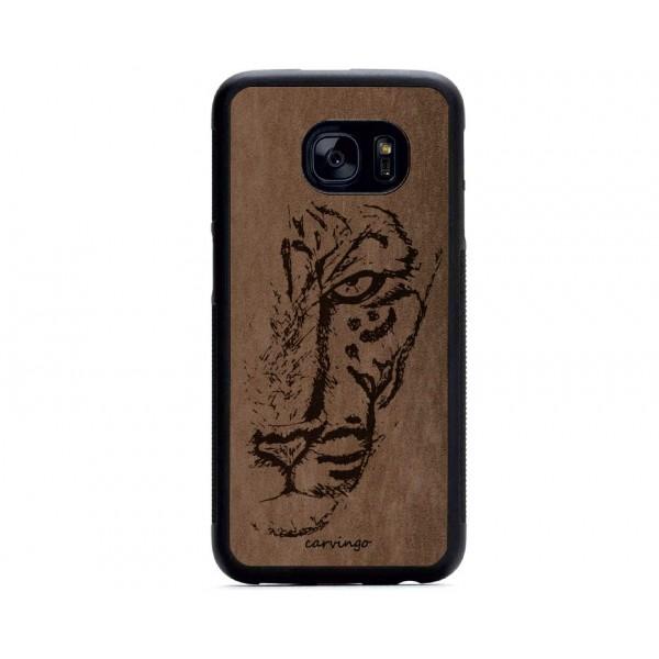 Leopar Figürlü Samsung Süet Telefon Kılıfı