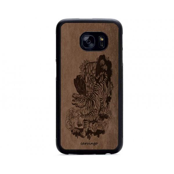 Kaplan Manzara Desenli Samsung Süet Telefon Kılıfı
