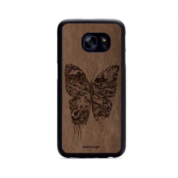 Kelebek Figürlü Samsung Süet Telefon Kılıfı