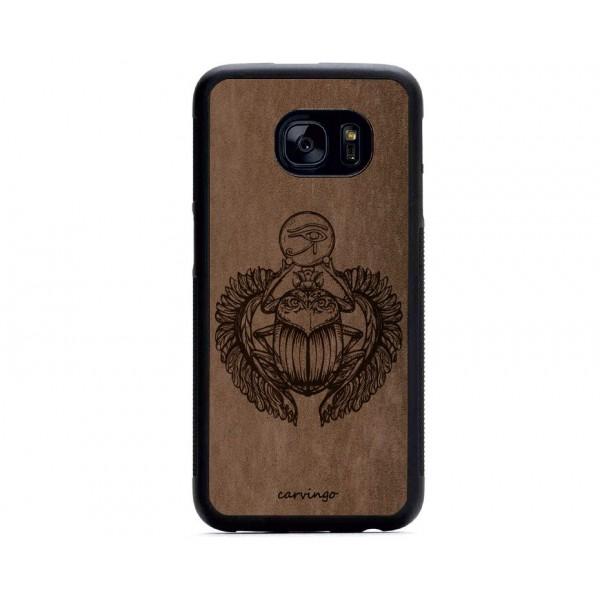 Kutsal Böcek Figürlü Samsung için Süet Telefon Kılıfı