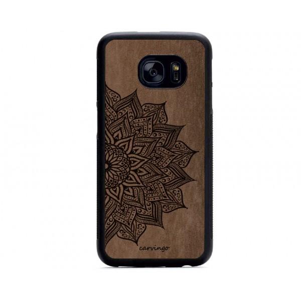 Mandala Desenli Samsung Süet Telefon Kılıfı