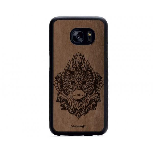 Maymun Kral Figürlü Samsung için Süet Telefon Kılıfı
