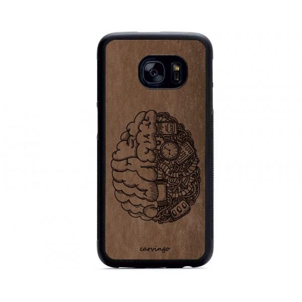 Mekanik Beyin Desenli Samsung Süet Telefon Kılıfı