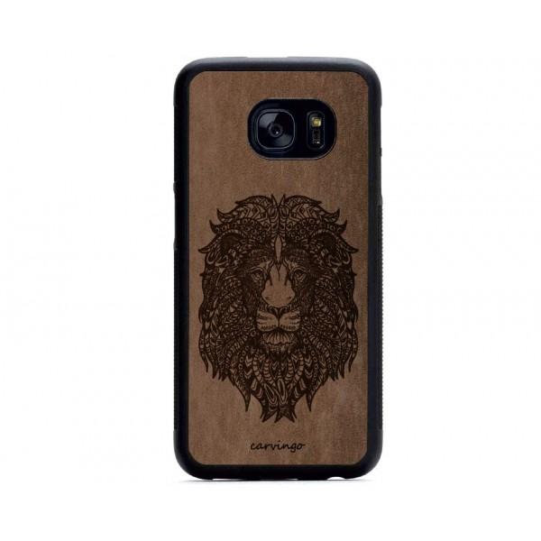 Mandala Aslan Figürlü Samsung Süet Telefon Kılıfı