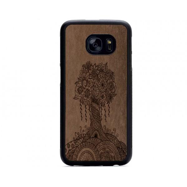 Ağaç Desenli Samsung için Süet Telefon Kılıfı