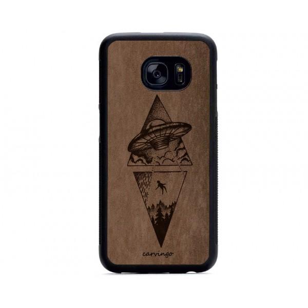 Uzaylı Figürlü Samsung Süet Telefon Kılıfı