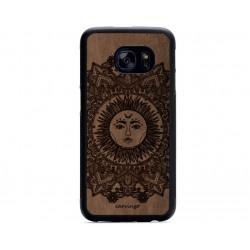Etnik Güneş Desenli Samsung için Süet Telefon Kılıfı