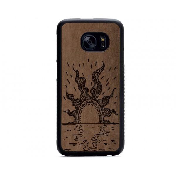 Güneş Figürlü Samsung için Süet Telefon Kılıfı