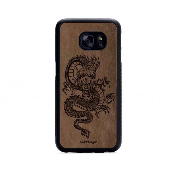 Mitolojik Ejderha Figürlü Samsung için Süet Telefon Kılıfı