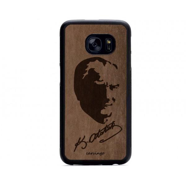 Atatürk Portre 4 Samsung Süet Telefon Kılıfı