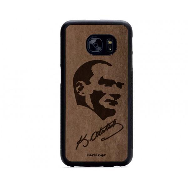 Atatürk Portre 5 Samsung Süet Telefon Kılıfı