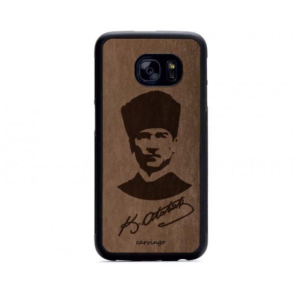 Atatürk Portre 6 Samsung Süet Telefon Kılıfı