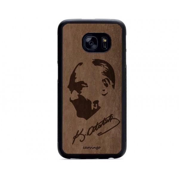 Atatürk Portre 7 Samsung Süet Telefon Kılıfı