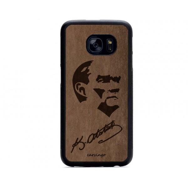 Atatürk Portre 8 Samsung Süet Telefon Kılıfı