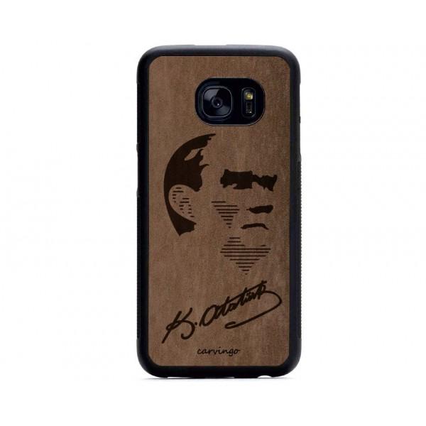 Atatürk Portre 9 Samsung Süet Telefon Kılıfı