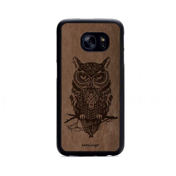 Baykuş Figürlü Samsung Süet Telefon Kılıfı