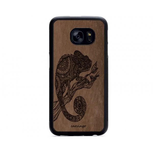 Bukalemun Figürlü Samsung için Süet Telefon Kılıfı